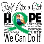 Liver Disease Hope Fight Like a Girl Shirts
