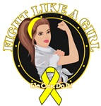 Sarcoma Cancer Fight Like A Girl Rosie Shirts