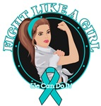 Gynecologic Cancer Fight Like A Girl Rosie Shirts