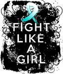Fight Like a Girl Cervical Cancer Grunge Shirts