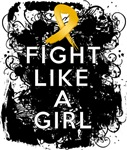 Fight Like a Girl Appendix Cancer Grunge Shirts