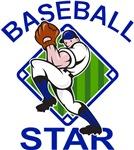 Baseball Star Pitcher Blue