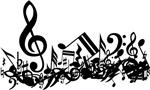 Mixed Musical Notes (Black)