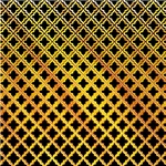 Elegant Black Yellow Quatrefoil Pattern