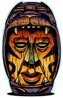 Panther Tiki |  Carved Tiki Head T-shirts & Gifts