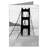 San Fran the foggy city greeting cards