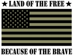 Land of the Free Camo Flag