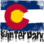 Winter Park Grunge Flag