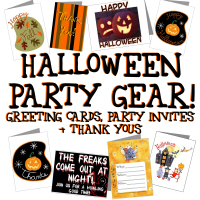 Halloween Greetings, Party Invites & more!