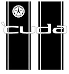 Cuda Racing Stripes
