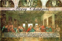 Merry Christmas da Vinci Last Supper Gifts Cards