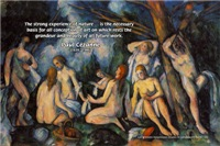 Paul Cezanne Nature Quote on Landscape Nude