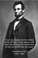 American President Abraham Lincoln on Liberty
