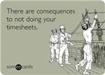 Consequences Timesheets