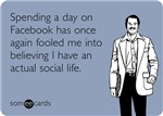 Spending Day On Facebook