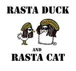 Rasta Duck & Rasta Cat
