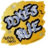 Doxies Rule! (Blue Graffiti Lettering)