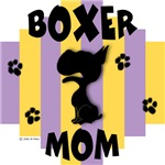 Boxer Mom Yellow/Purple Stripe