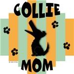 Collie Mom - Green/Orange Stripe