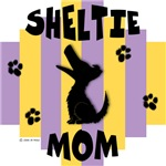 Sheltie Mom - Yellow/Purple Stripe