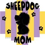 Sheepdog Mom Yellow/Purple Stripe