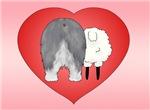 Old English Sheepdog Valentine