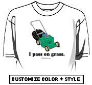 I pass on grass