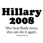 Hillary 2008 / She beat Rudy once before