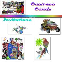 Invitations Multiple Sizes & Business Cards