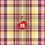 Banana Split Plaid Cherry Monogram