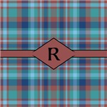 Marsala Plaid Monogram