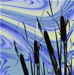 Morning Pond Cattails