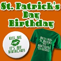 ST PATRICKS DAY BIRTHDAY TEES AND GIFTS
