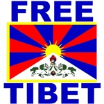 Free Tibet with Flag of Tibet