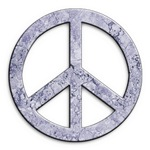 Marble Texture Look Peace Symbol
