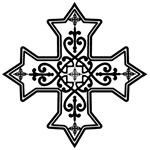 Black and White Coptic Cross