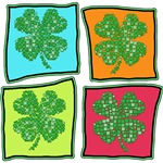 Cute Colorful Patchwork Shamrocks