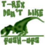 T-Rex Hates Pushups Funny Dino