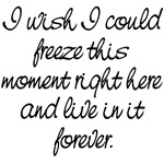 Hunger Games Quote: I wish I could freeze...