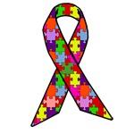 Autism Awareness Jigsaw Puzzle Ribbon