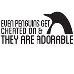 Even penguinsget cheated on and they are adorable