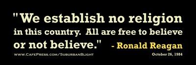 Reagan Establish No Religion