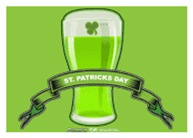St Patrick's Day Beer Banner