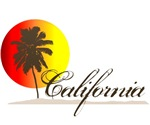 California Beaches Sunset Logo