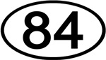 Number 84 Oval (Black)