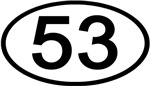 Number 53 Oval (Black)
