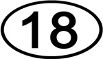 Number 18 Oval (Black)