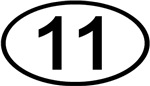 Number 11 Oval (Black)