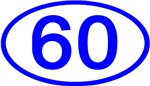 Number 60 Oval (Blue)