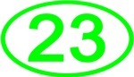 Number 23 Oval (Green)